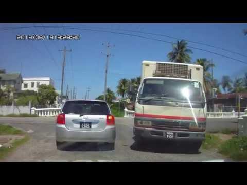 Guyana ,Georgetown, Water Street to Pegasus,Sea Wall.(HD)