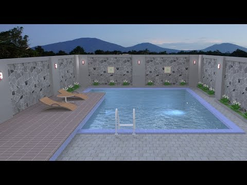 Sketchup tutorial ( Make a swimming pool 2 )
