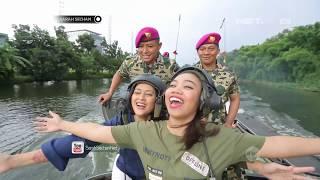 Sarah Sechan Takjub Dengan Situasi di Dalam Tank Amphibi
