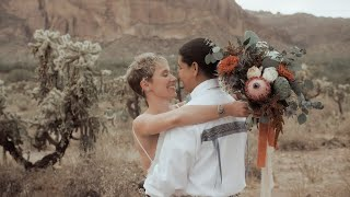 A Wedding In The Middle Of The Desert | Cloth and Flame Weddings | Native America Wedding