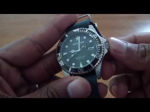 Unboxing my Oxygen DVR 40 (EX-D-CAM-40-BLGNRE) Submariner style watch.