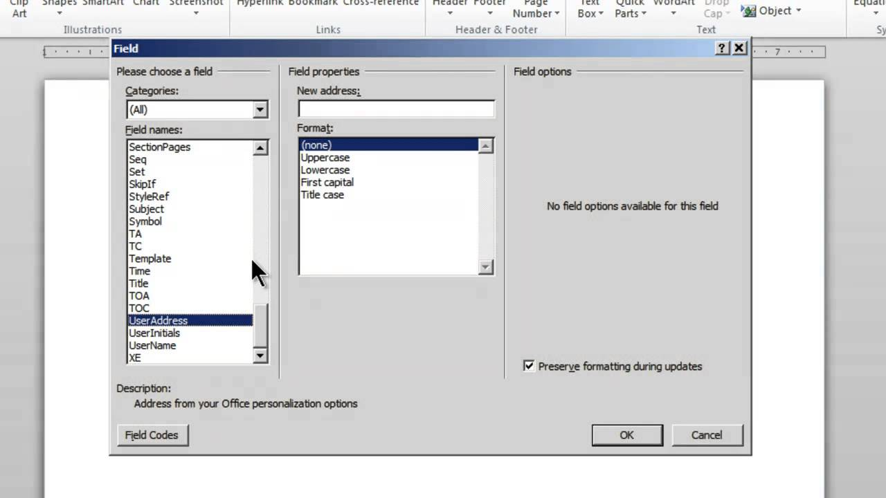 Creating an MS Word 2010 template that automatically inserts – Address Template Word