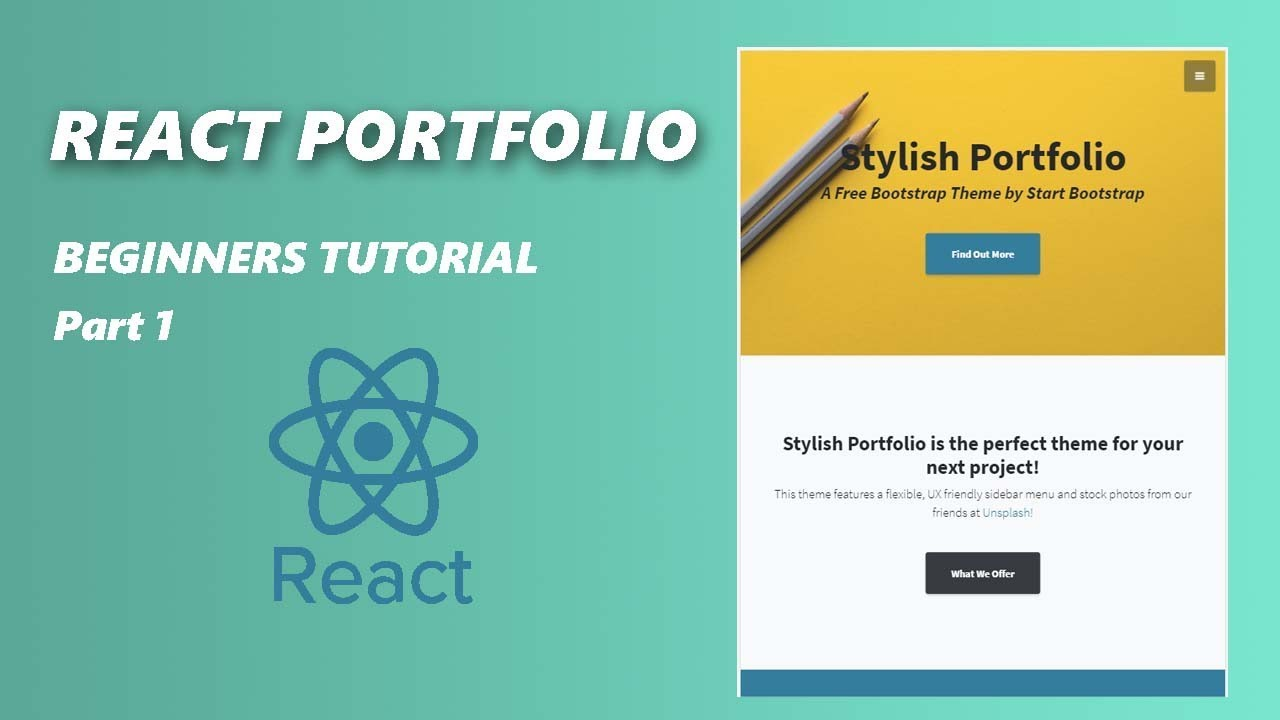 React Js Portfolio Project Part 1 Youtube