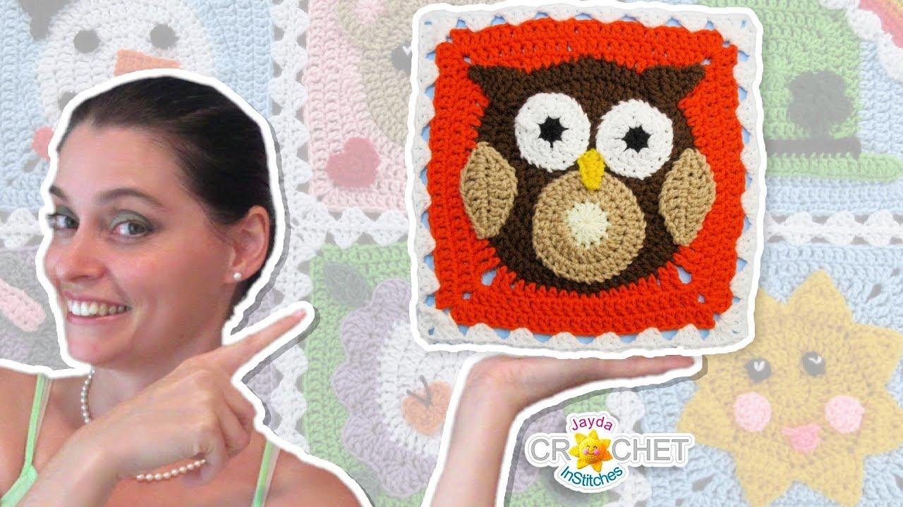 Owl Blanket Square Crochet Motif November Youtube