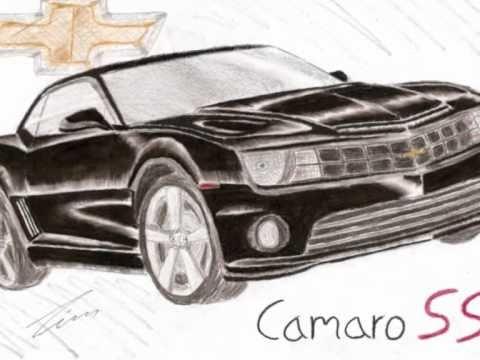 Camaro Ss Zeichnung Drawing Youtube