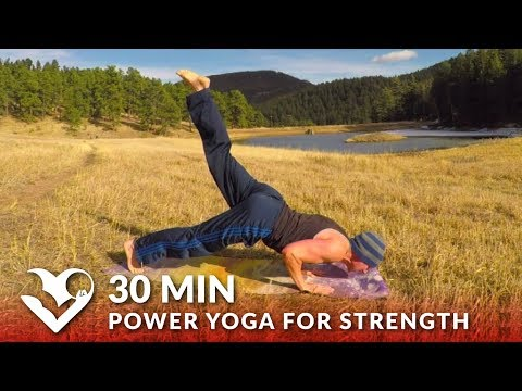 30 Minute Power Yoga Workout for Strength w/ Sean Vigue - Yoga Exercises for Men & Women