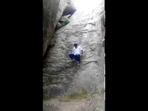 Bahubali Climbing Mountain without waterfall