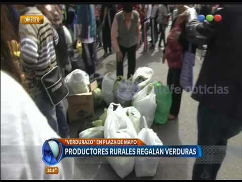 Verdurazo en Plaza de Mayo   -Telefe Noticias