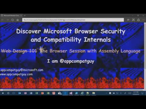 Microsoft Ignite 2016 Discover Microsoft browser security and compatibility internals
