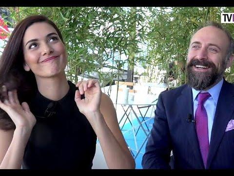 Halit Ergenc & Berguzar Korel ....interview in Cannes