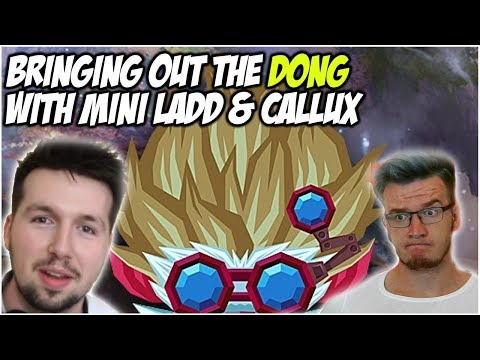 BRINGING OUT THE DONG WITH MINI LADD & CALLUX | League of Legends thumbnail