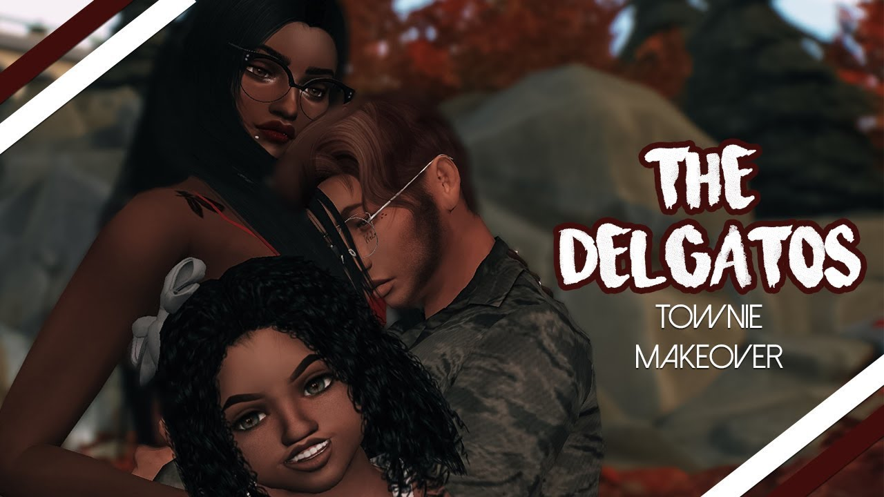 ❤️ THE #ACEFAMILY OF THE SIMS 4?! (Delgato Townie Makeover) + FULL CC LIST  & SIM DOWNLOAD ❤️