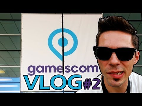 SUPER CROWDED!! - GAMESCOM 2017 Cologne Germany - Travel & Conference VLOG DAY 2 [4K]