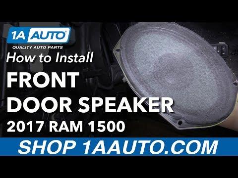 How to Install Replace Front Door Speaker 2017 Ram 1500