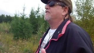 Blogger goes in the woods in Rexton were Thumpers Trucks are located!!!