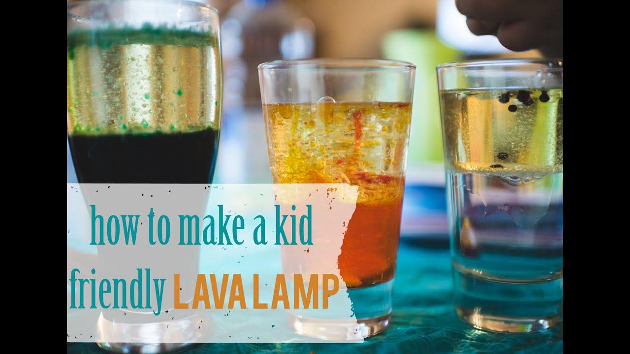 How to make a quick lava lamp kid friendly preschool homeschool