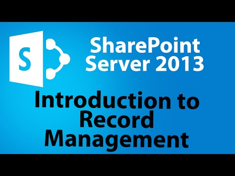 Introduction to Records Management in a SharePoint 2013 Site