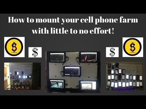 How to display your cellphone farm with little effort!