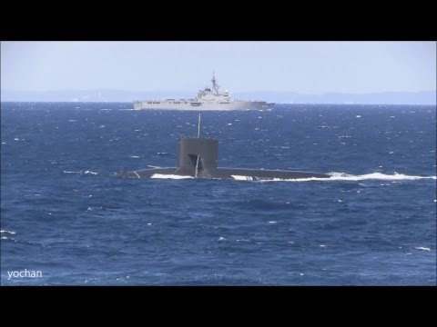 """Submarine came to the surface.Fleet Review """"Naval Review"""""""