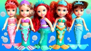 Play Doh Petite Princess Ariel Mermaids Sisters Set with Arielle Aq...