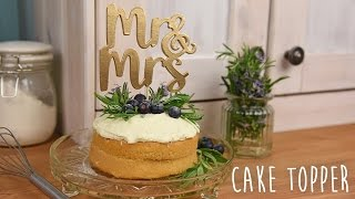 Mr & Mrs Cake Topper Quick Make