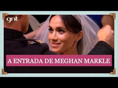 Noiva Meghan Markle encontra Príncipe Harry na capela de St. George | Casamento Real