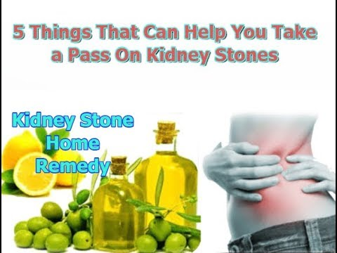 Kidney Stone Home Remedy 5 Things That Can Help You Take A Pass On Kidney Stones Youtube