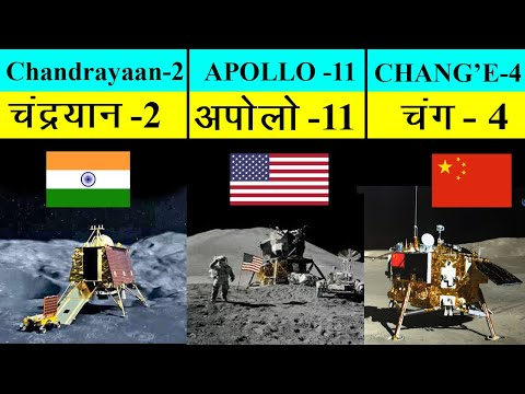 Chandrayaan 2 vs Chang e'4 vs Apollo 11 Full Comparison 2019 | चंद्रयान 2 vs चंग 4 vs अपोलो 11