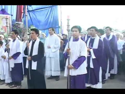 lễ an táng cha Giuse Vũ Văn Đại 8 đền thánh Sa Châu làng Gòi Giao Châu