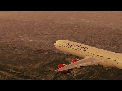 Infinite flight - Virgin Atlantic Airbus A340 KLAX - KPSP