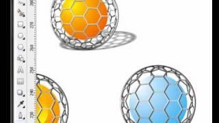 corel draw x4 - Esferas de malla metalica 2-2