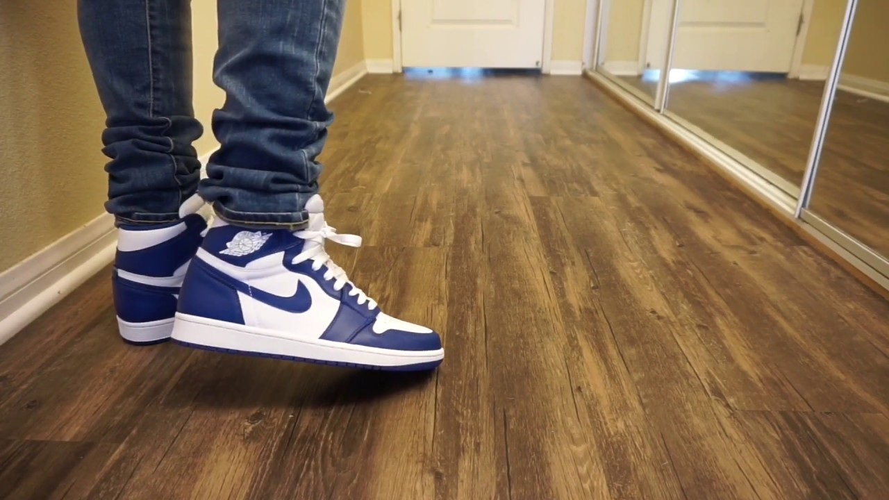 Jordan 1 Storm Blue W  on Foot review!!! - YouTube 63d9ac58b