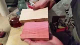 Pink Wood Stain - Pink Wood Dye - DIY Wood Stain
