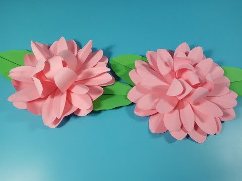 DIY Paper Dahlia l Tutorial Origami Easy Paper Flower l Very Easy To Make l Paper Craft Ideas