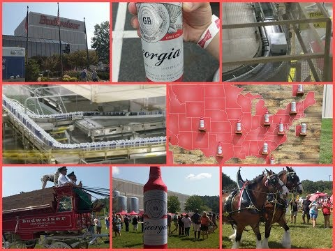 BUDWEISER BREWERY TOUR!!! 2017 OPEN HOUSE - CARTERSVILLE,GA