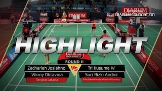 Zachariah J/Winny O (Tangkas Jakarta) VS Tri Kusuma /Suci Rizki A (Exist/Mutiara Cardinal Bandung)