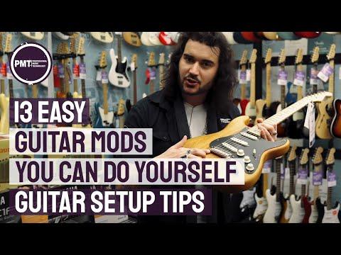 13 Essential (& Easy) Guitar Setup & Guitar Modifications