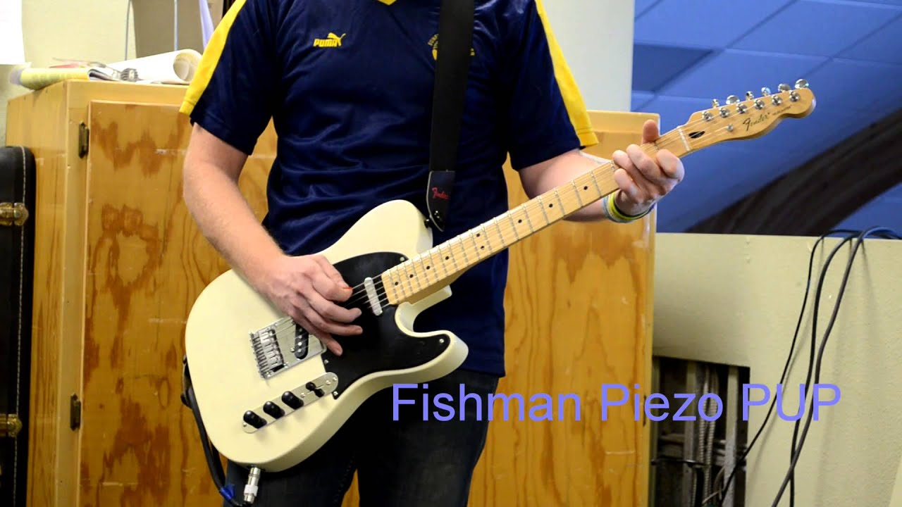 White Blonde MIM Fender Telecaster with Fishman Transducer