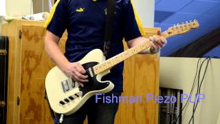 White Blonde MIM Fender Telecaster with Fishman Transducer and Powerchip