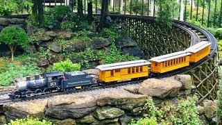 HUGE G-Scale Garden Railroad,  Outdoor Toy Trains!