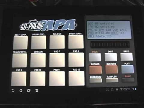 Su-Preme MPA 1.0 Android OS. How to Part 3 Library/Sampler