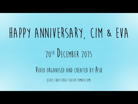 Happy Anniversary Cim and Eva | Messages from fans (reupload)