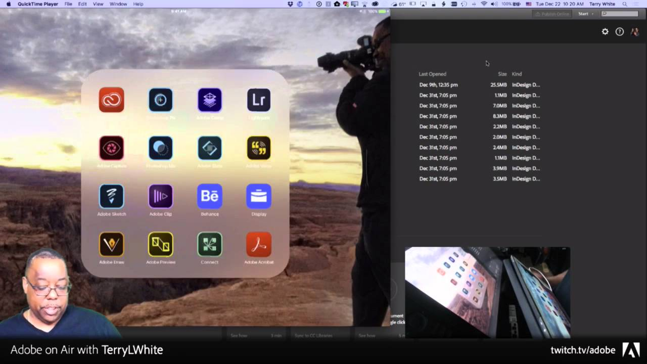 terry white live the lightroom photoshop cc show ep11 indesign cc youtube
