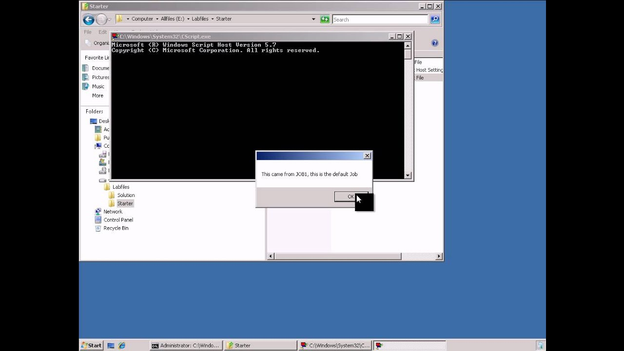 Introduction to scripting for systems administrators - Windows Scripting  Host, part 1