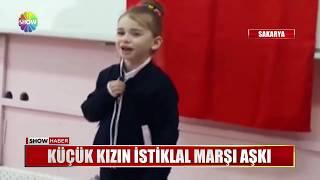 Küçük kızın İstiklal Marşı aşkı