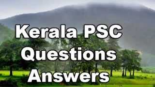 Kerala History - Kerala PSC Questions and Answers