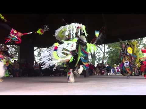 Fast Native Dancing Pow Wow Calgary Stampede 2014