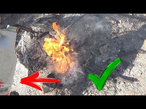 Как выжечь пень быстро