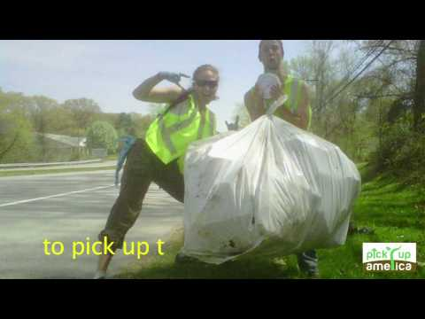 Pickin' Up Trash Karaoke video -- Pick Up America