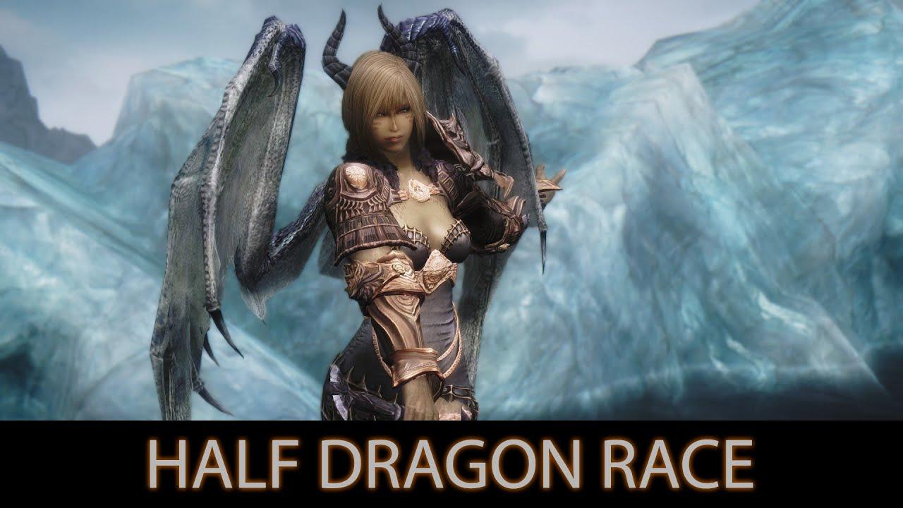 SEXY AND STRONG - Skyrim Mods - Half Dragon Race. [60FPS|1080p ...